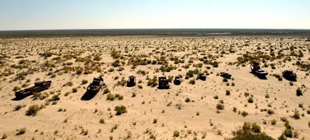Portul fără vapoare. Marea Aral.
