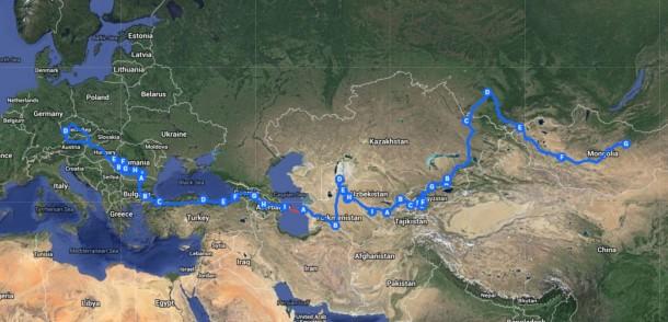 Traseul Dacioți până-n Mongolia 2012