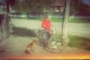 Copil cu biță în Târgușor.