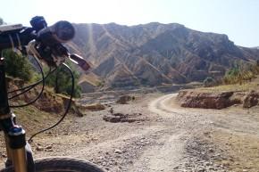 Parte din drumul de offroad parcus singură la sud de Osh.